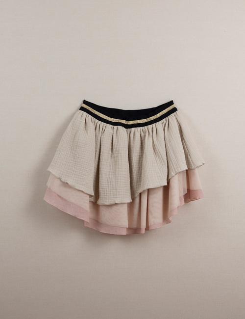 [Popelin Kids]Layered skirt[3-4y, 5y, 6y]