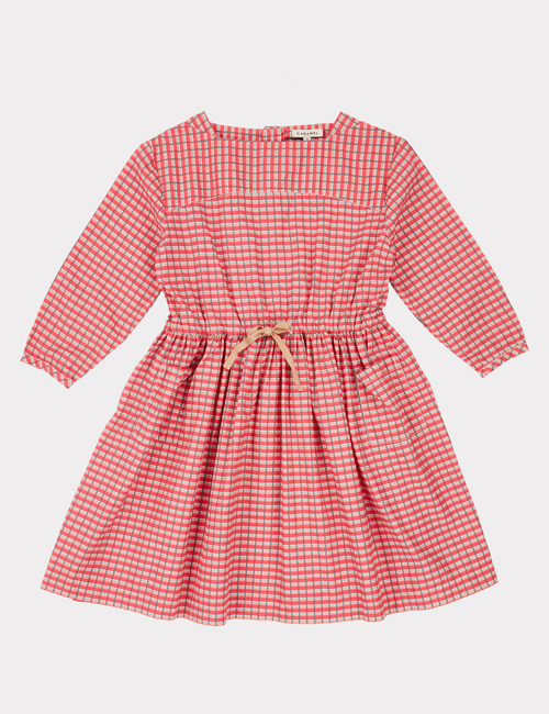 [CARAMEL]KNIGHTSBRIDGE DRESS _ RED PAINTED CHECK[ 6y, 8y]