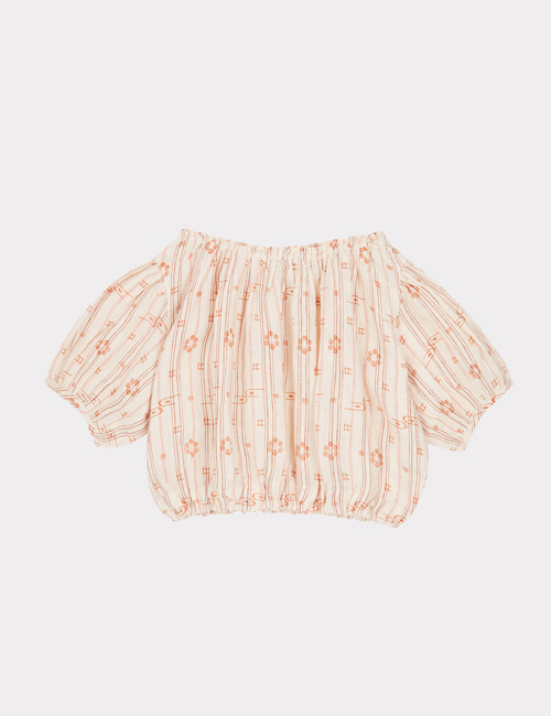 [CARAMEL]QUEENS PARK BLOUSE _ ROSE TAN [6y, 8y]