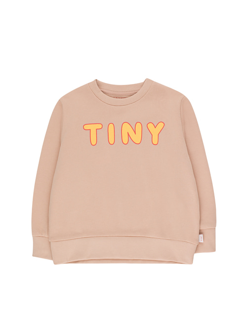 "[Tiny Cottons] ""TINY"" SWEATSHIRT _ light nude/yellow [4Y, 12Y]"