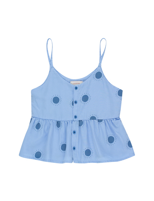 "[Tiny Cottons] ""SUN"" BLOUSE _ cerulean blue/summer navy [4Y, 6Y]"