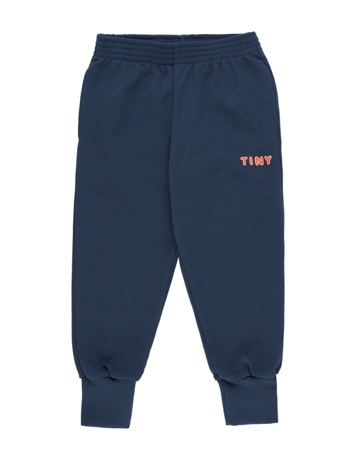 "[Tiny Cottons] ""TINY"" SWEATPANT_  light navy/red [6Y, 10Y]"