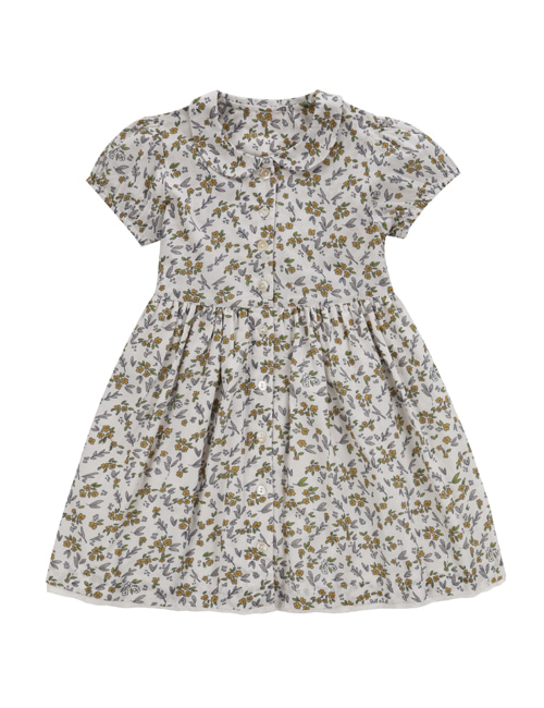 [LITTLE COTTON CLOTHES]Audrey Dress Yellow Meadow Floral  [4-5y]