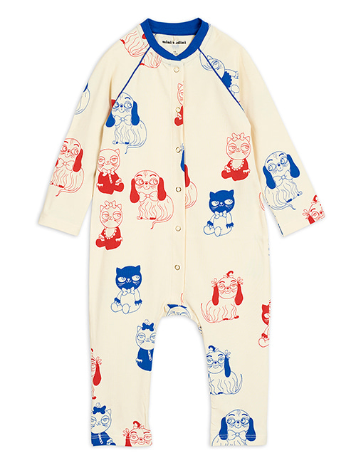 [MINI RODINI]Minibaby aop jumpsuit _ Offwhite[56/62]