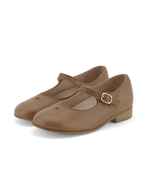 [YOUNG SOLES SHOE] Maggie Mary Jane Shoe _ Tan Burnished