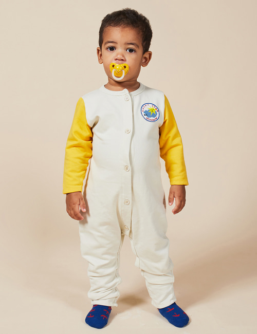 [BOBO CHOSES] Lucky Star Patch Fleece Overall[12-18m, 18-24m, 24-36m]