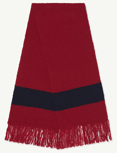 [T.A.O] SNAKE ONESIZE SCARF  Red