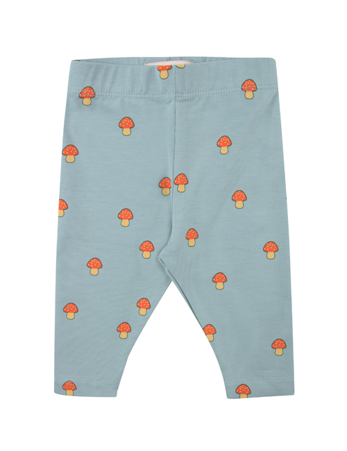 "[TINY COTTONS]  ""MUSHROOMS"" PANT _ warm grey/red  [12M]"