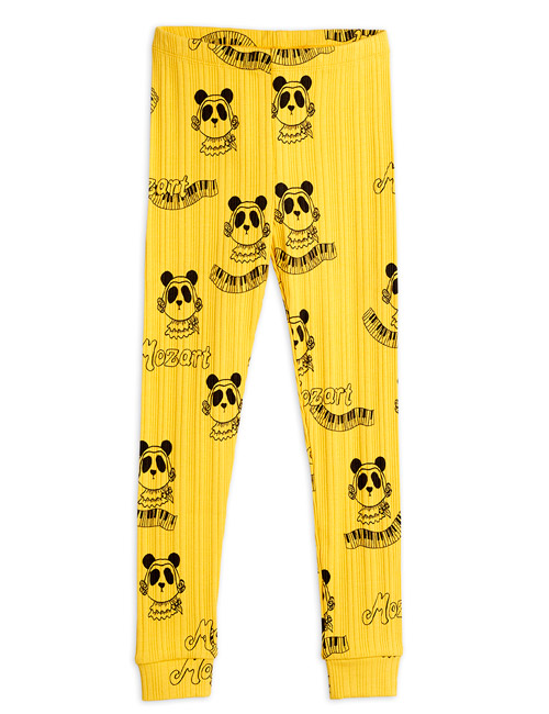 [MINIRODINI]Mozart aop leggings_Yellow[104/110]