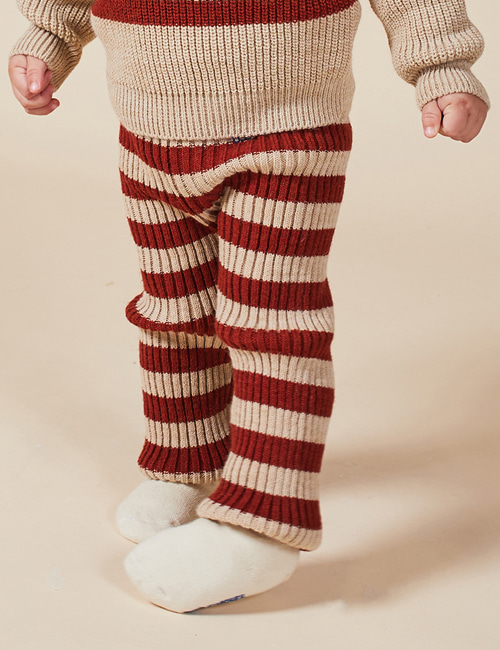 [BOBO CHOSES] Striped Knitted Leggings[12-18m, 24-36m]