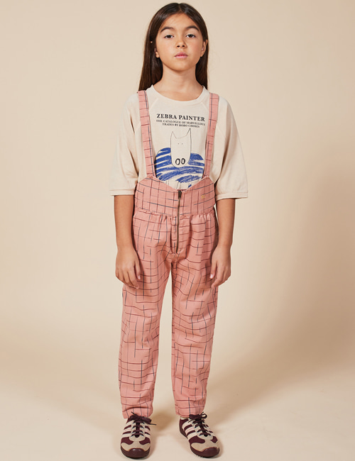 [BOBO CHOSES] Grid Braces Pants[2-3y, 4-5y, 6-7y, 8-9y, 10-11y]