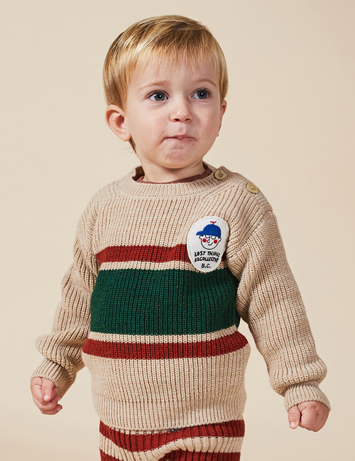 [BOBO CHOSES] Boy Patch Jumper[12-18m, 24-36m]