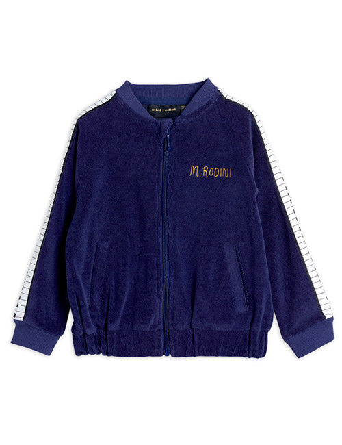 [MINI RODINI]Piano terry jacket_Navy [92/98, 140/146]