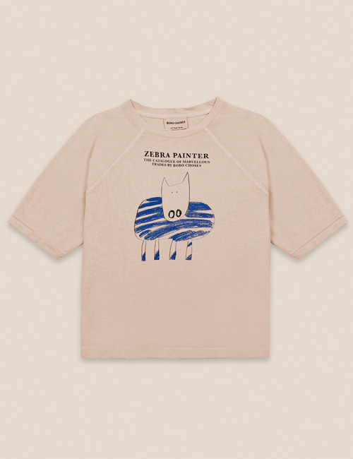 [BOBO CHOSES] Zebra Painter T-shirt [6-7y, 8-9y]