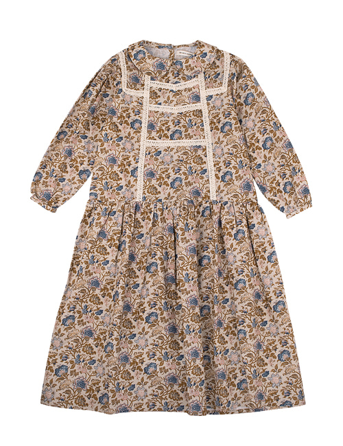 [THE NEW SOCIETY] LUISA DRESS _  VINTAGE FLOWERS [4Y,8Y,10Y]