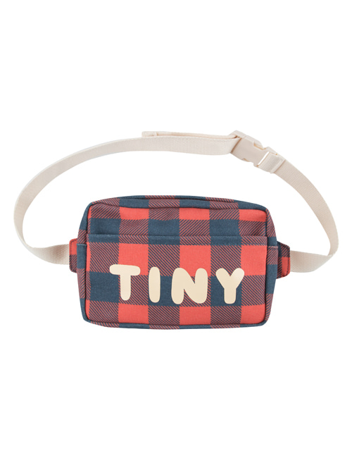 "[TINY COTTONS] ""CHECK"" FANNY BAG _ navy/red"