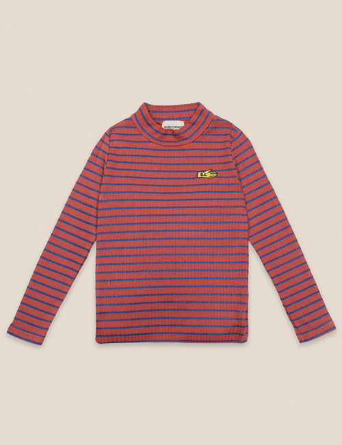 [BOBO CHOSES] Striped Turtle Neck T-shirt [2-3y, 4-5y, 6-7y, 8-9y, 10-11y]
