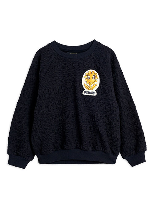 [MINI RODINI]Flower patch sweatshirt _ Black[92/98, 116/122]