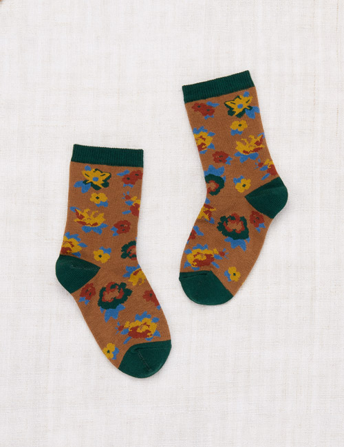 [MISHA AND PUFF]Brimfield Crew Socks _ Bronze [24/27, 28/31, 32/35]