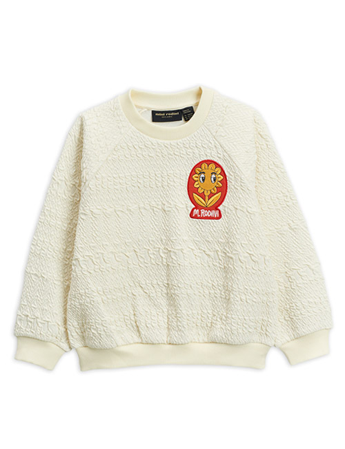 [MINI RODINI]Flower patch sweatshirt _ Offwhite[92/98, 104/110, 116/122, 128/134]