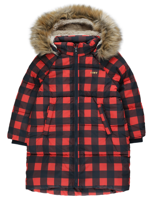 [TINY COTTONS] CHECK PADDED JACKET _ navy/red [4Y, 6Y, 8Y, 10Y]