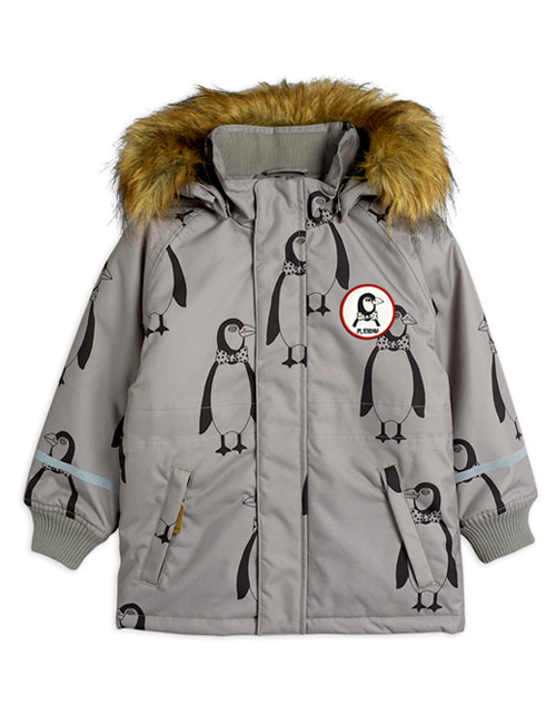 [MINI RODINI]K2 penguin parka_ Grey[80/86, 92/98, 104/110, 128/134, 140/146]