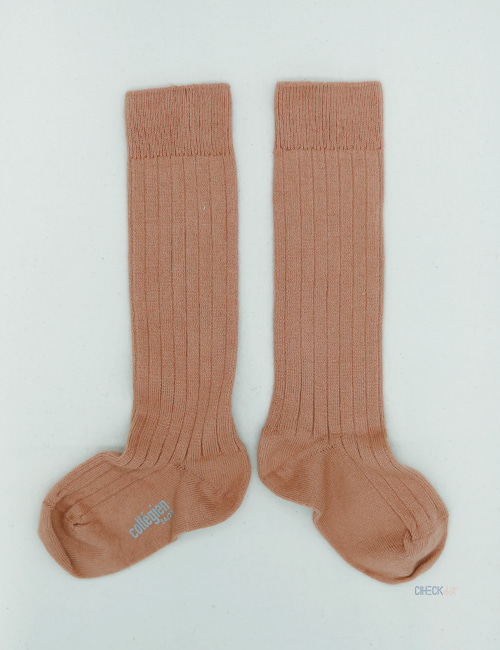 [COLLEGIEN]Ribbed kneehigh _ Bois de rose (No.723) [24/27, 28/31]