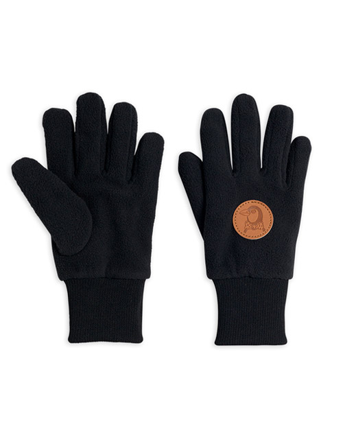 [MINI RODINI]Fleece gloves_Black[2Y/5Y, 5Y/8Y, 8Y/11Y]