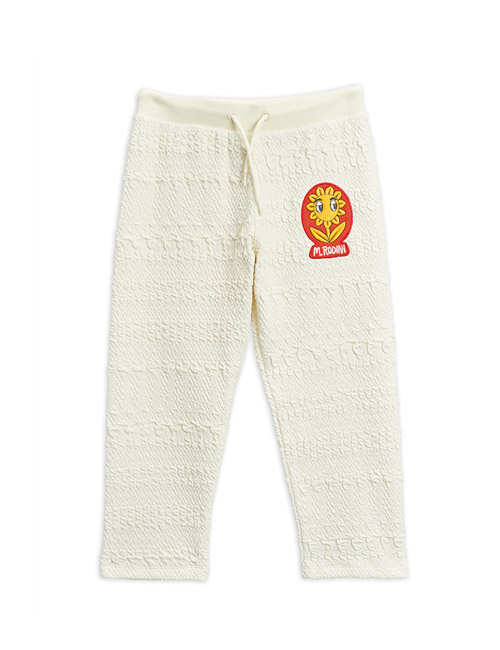 [MINI RODINI]Flower patch sweatpants _ Offwhite[92/98, 104/110, 116/122, 128/134]