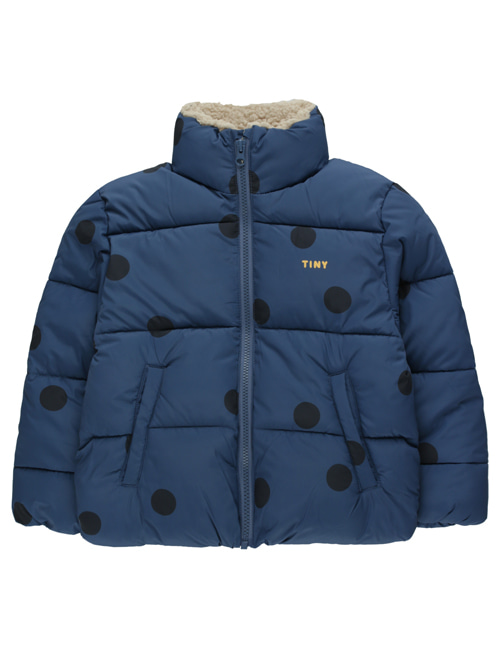 "[TINY COTTONS] ""BIG DOTS"" PADDED JACKET _ light navy/navy [4Y]"