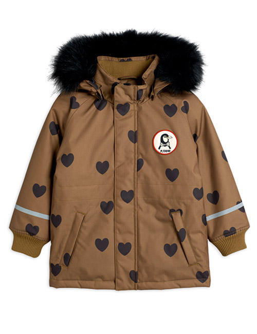 [MINI RODINI]K2 hearts parka_Brown[80/86, 104/110, 140/146]