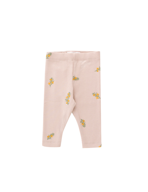 [TINY COTTONS]  TWIGS BABY PANT _ dusty pink/green