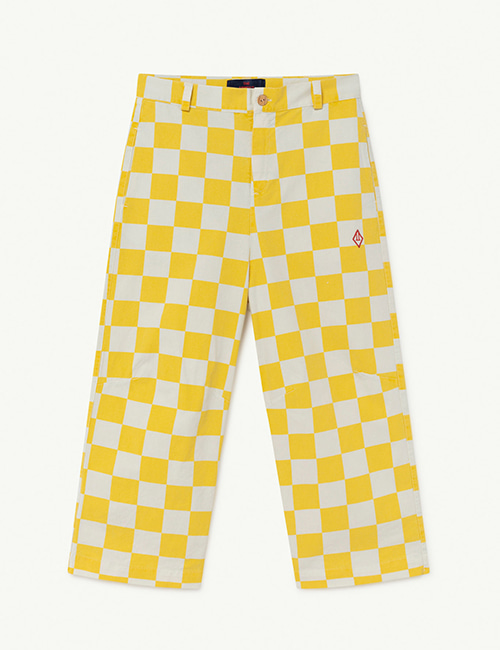 [T.A.O]  CAMEL KIDS TROUSERS _ White Squares