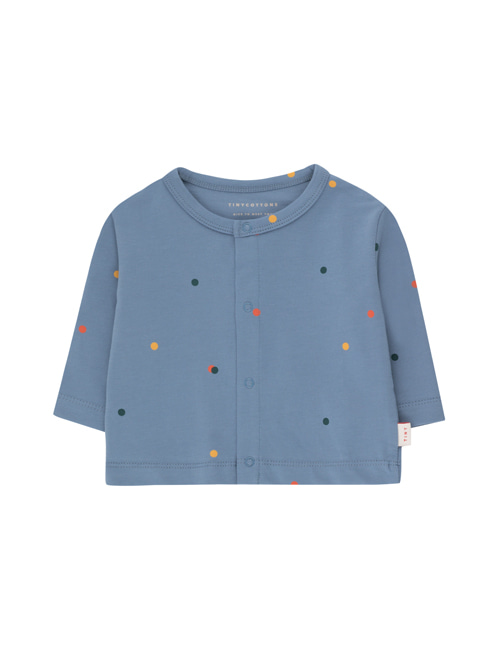 [TINY COTTONS]  ICE CREAM DOTS BABY CARDIGAN _ grey blue