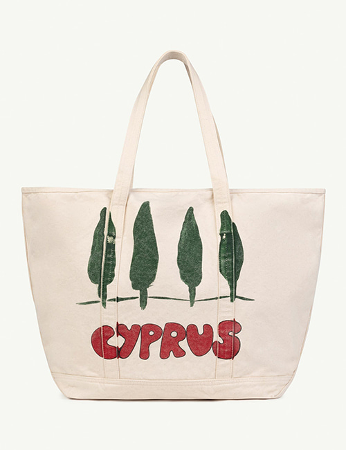[T.A.O]  TOTE BAG ONESIZE BAG _ White Cyprus