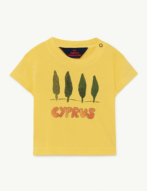 [T.A.O]  ROOSTER BABY T-SHIRT _ Soft Yellow Cyprus