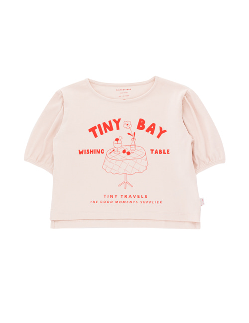 [TINY COTTONS]  WISHING TABLE BLOUSE _ pastel pink/red