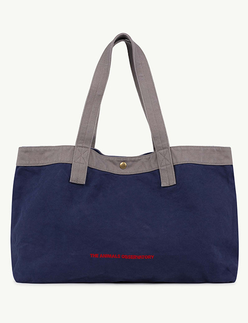 [T.A.O]  BIG CANVAS ONESIZE BAG _ Navy The Animals