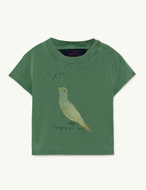 [T.A.O]  ROOSTER BABY T-SHIRT _  Green Bird