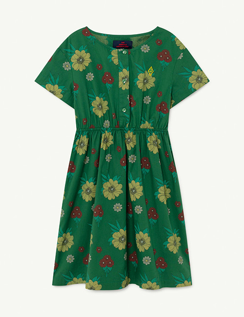 [T.A.O]  DOLPHIN KIDS DRESS _ Green Flowers
