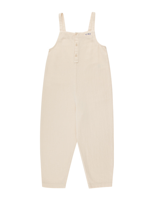 [TINY COTTONS]  SOLID DUNGAREE _ light cream