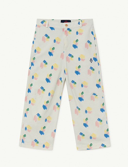 [T.A.O]  CAMEL KIDS TROUSERS _ White Strokes