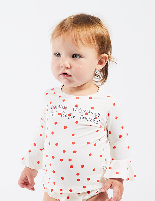 [BOBO CHOSES] Dots Ruffle Swim Top [12-18m, 24-36m]