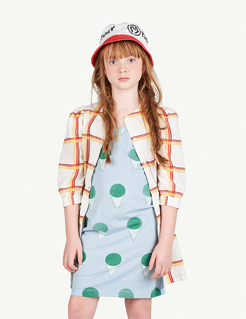 [T.A.O]SQUARES TORTOISE KIDS DRESS [4Y, 10Y]