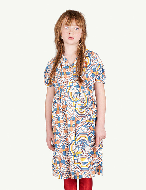 [T.A.O]DOLPHIN KIDS DRESS _ MULTI [3Y,  4Y]