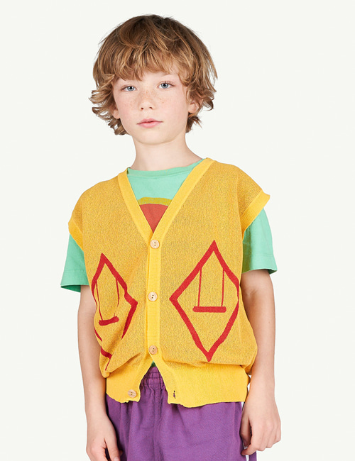 [T.A.O]BAT KIDS VEST _ YELLOW [3Y]