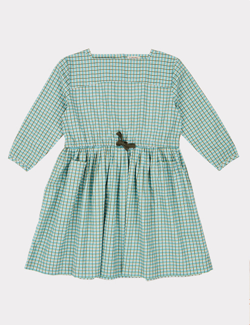 [CARAMEL]KNIGHTSBRIDGE DRESS _TOURMALINE PAINTED CHECK  [6y, 10y]