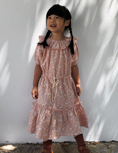 [LIILU KIDS]Clara dress _ Flower petals [6-8Y, 8-10Y,10-12Y]