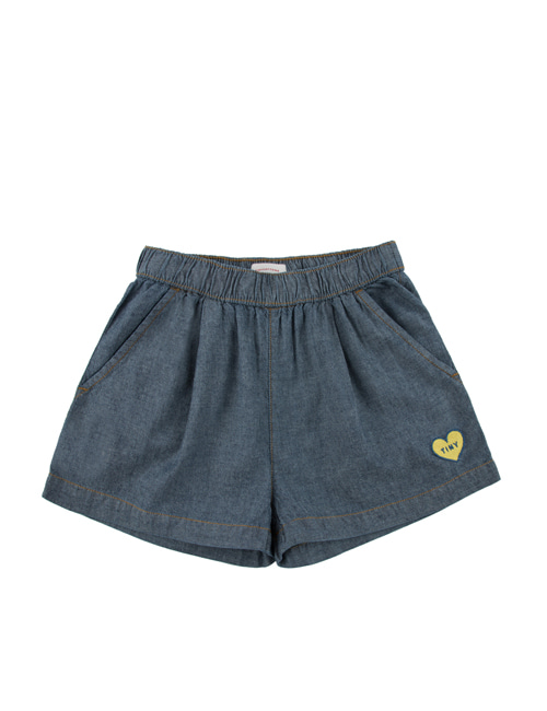 [Tiny Cottons] DENIM PLEATED SHORT _ blue [8Y]