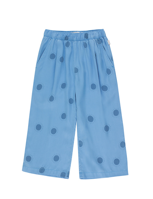 "[Tiny Cottons] ""SUN"" WIDE PANT _ cerulean blue/summer navy [4Y]"